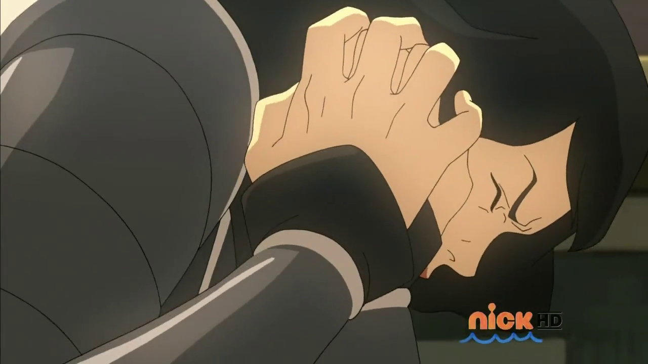 A young Lin Beifong is scarred. (The Legend of Korra S03E06)
