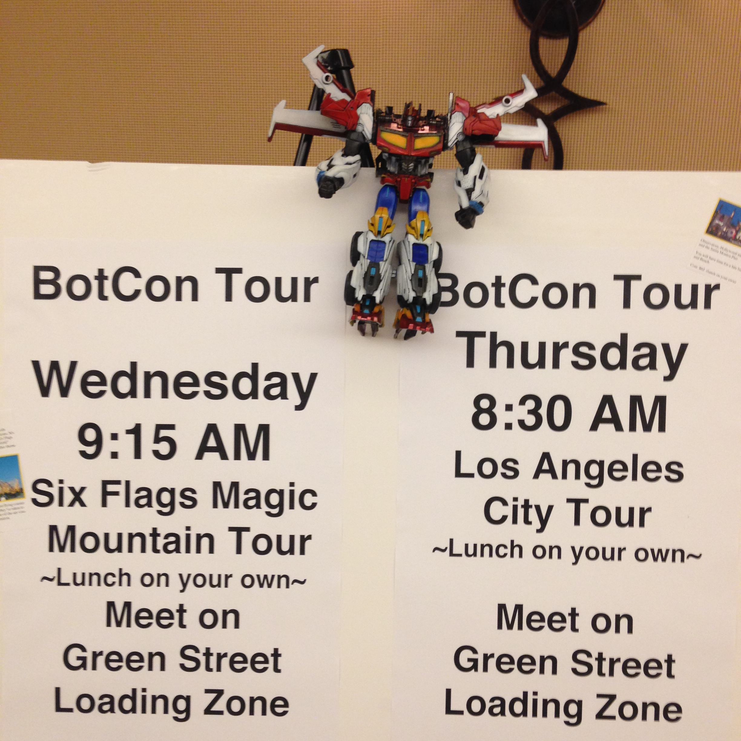 Tours that I didn't sign up for. (Botcon Day 0)