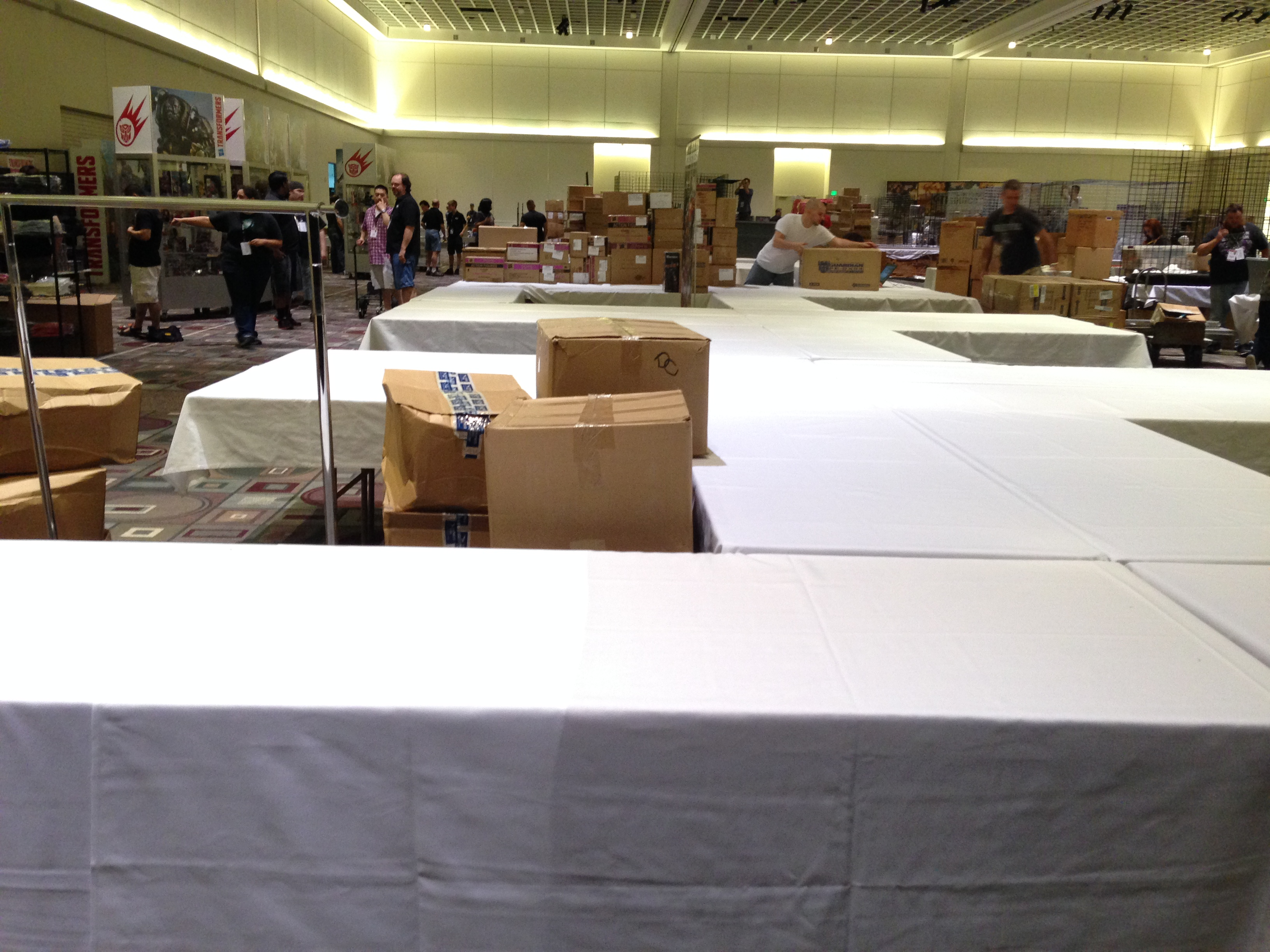 The dealer's room being set up. (Botcon Day 1)