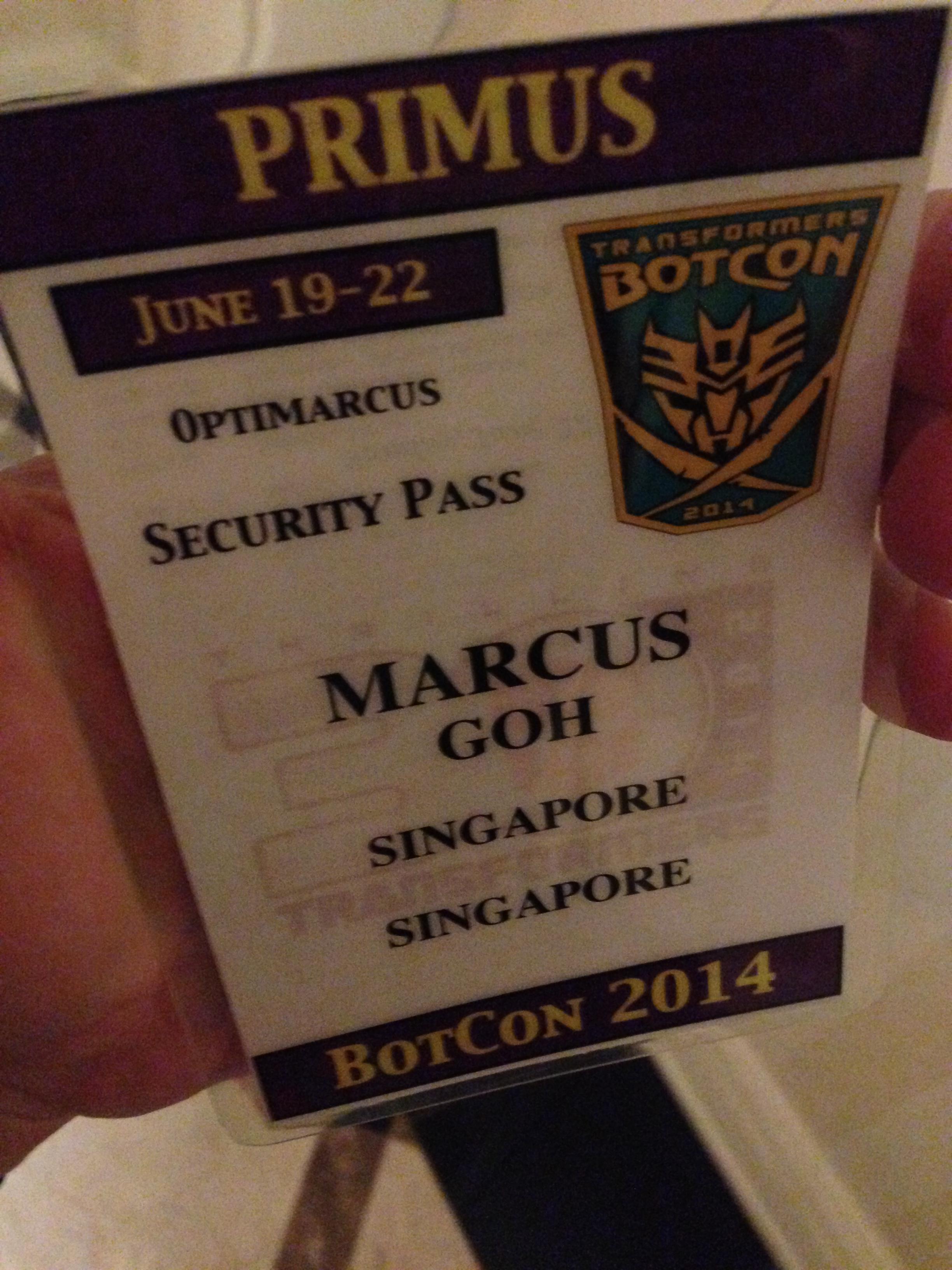 My pass!