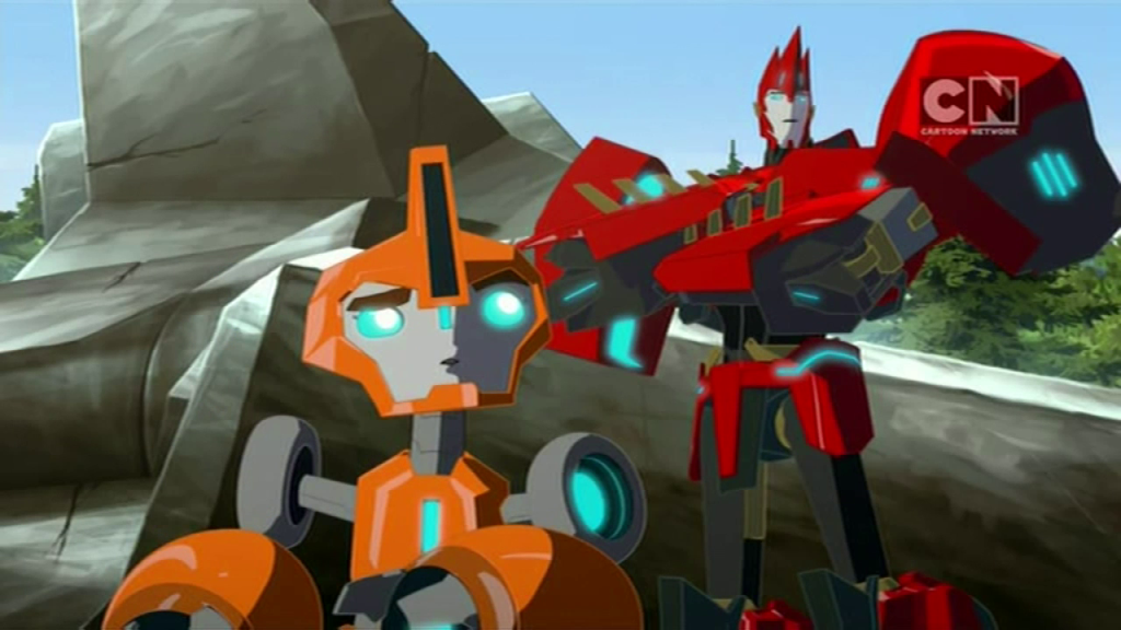 Sideswipe & Fixit. (Pilot (Part 2) - S01E02 of Transformers: Robots in Disguise)