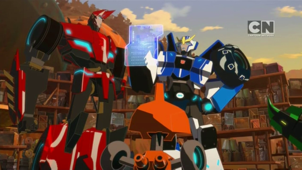 "Back at base. (""More than Meets the Eye"" S01E04 of Transformers: Robots in Disguise)"