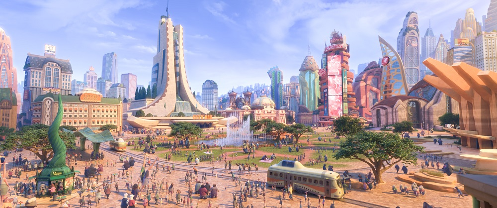 "The city of Zootopia in ""Zootopia."" (©2016 Disney. All Rights Reserved.)"