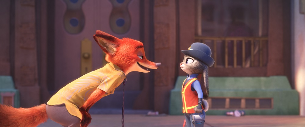 "Zootopia's first bunny officer Judy Hopps finds herself face to face with a fast-talking, scam-artist fox Nick Wilde in ""Zootopia."" (©2016 Disney. All Rights Reserved.)"