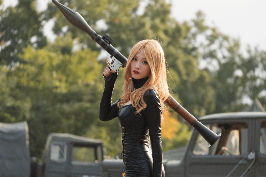 "Teacher Jelavic (Kang Ji-young) in ""Assassination Classroom 2."" (Encore Films)"