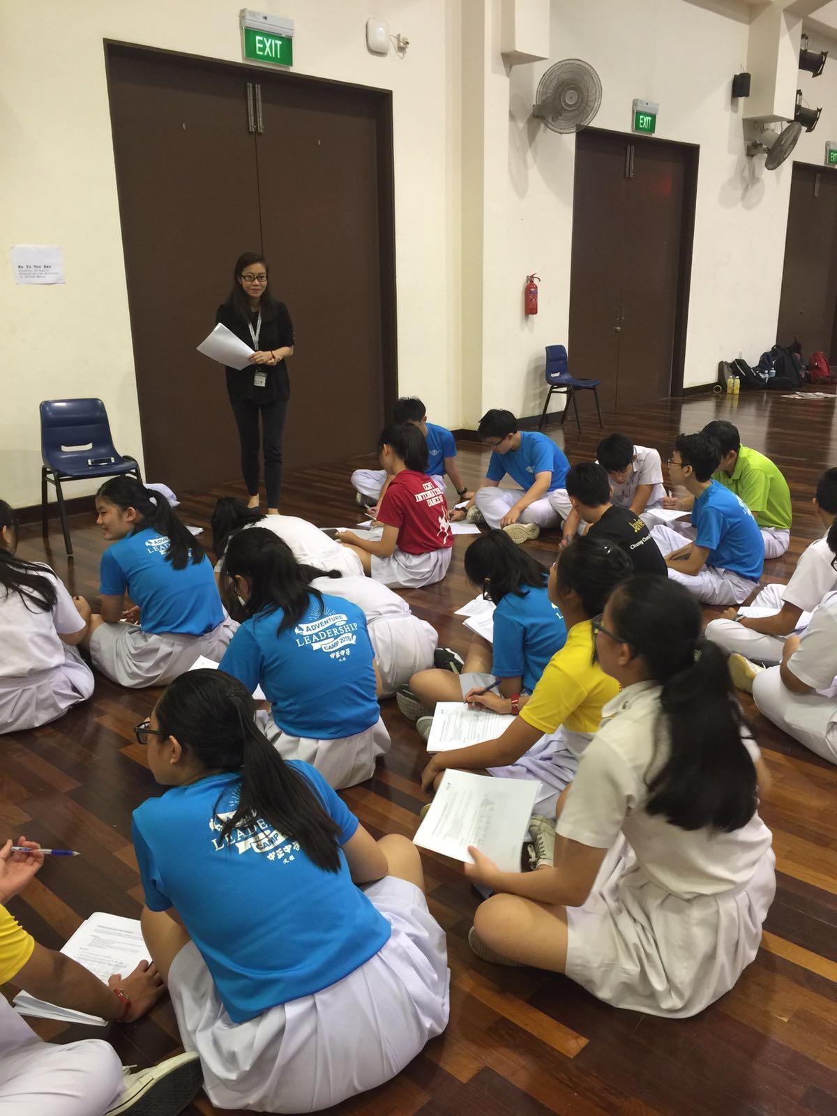 Students at a mock press conference. (Chung Cheng High (Yishun))