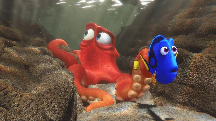 "Hank (Ed O'Neill) and Dory (Ellen DeGeneres) in ""Finding Dory."" (The Walt Disney Company)"