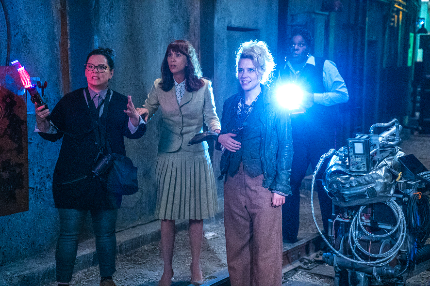 """Civilian garb in """"Ghostbusters."""" (Sony Pictures Singapore)"""