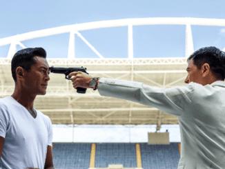 """Lam vs Young Master in """"Line Walker (使徒行者)."""" (Golden Village Pictures)"""