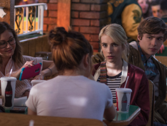 "Vee (Emma Roberts) looks like she's just eaten a durian in ""Nerve."" (Shaw Organisation)"