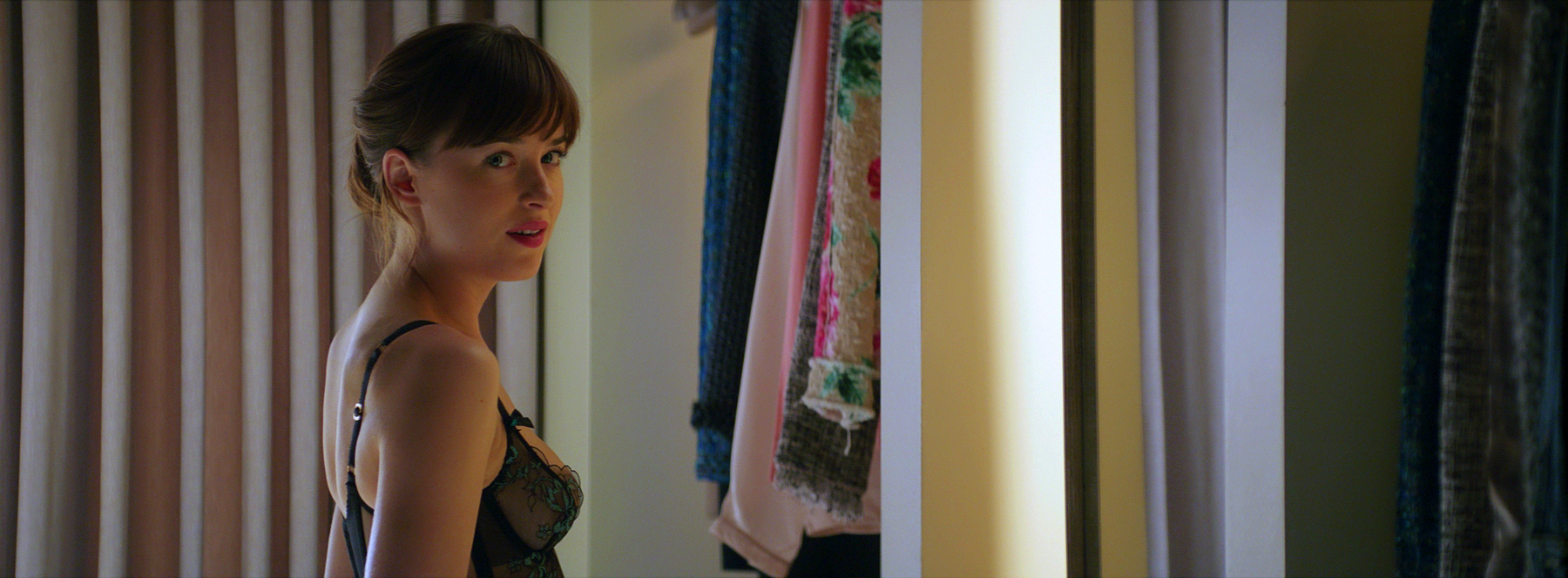 "Ana (Dakota Johnson) in very little clothes in ""Fifty Shades Darker"". (United International Pictures)"