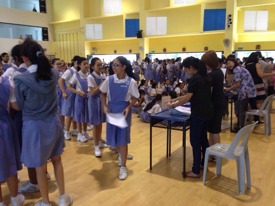 PSLE results day. (Channel NewsAsia Facebook Page)