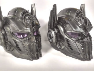 Black chrome Optimus Prime helmet giveaway at Midnight Madness event (Hasbro Singapore)