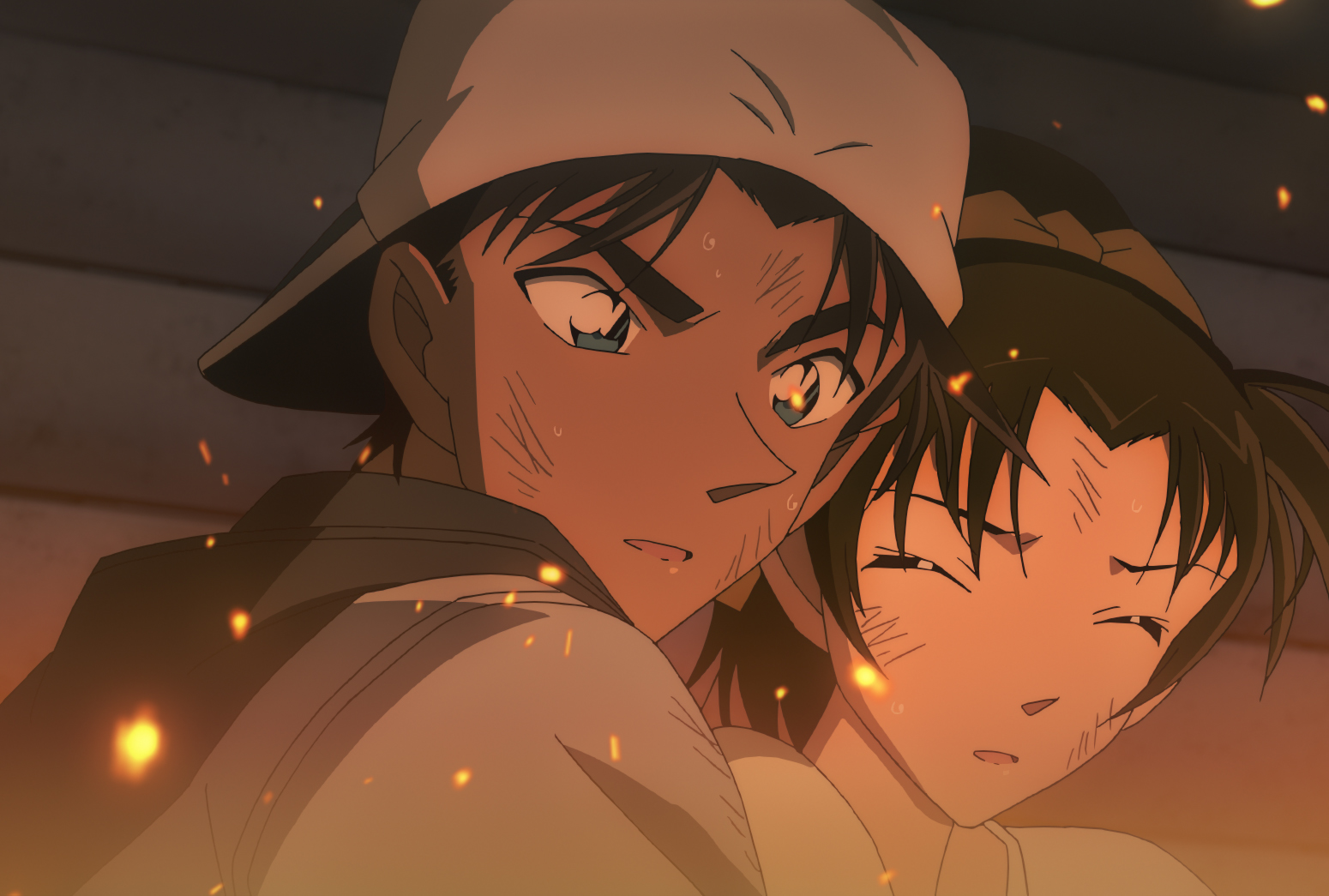"Heiji (Ryo Horikawa) and Kazuha (Yuko Miramura) in ""Detective Conan: The Crimson Love Letter"". (Golden Village Cinemas)"