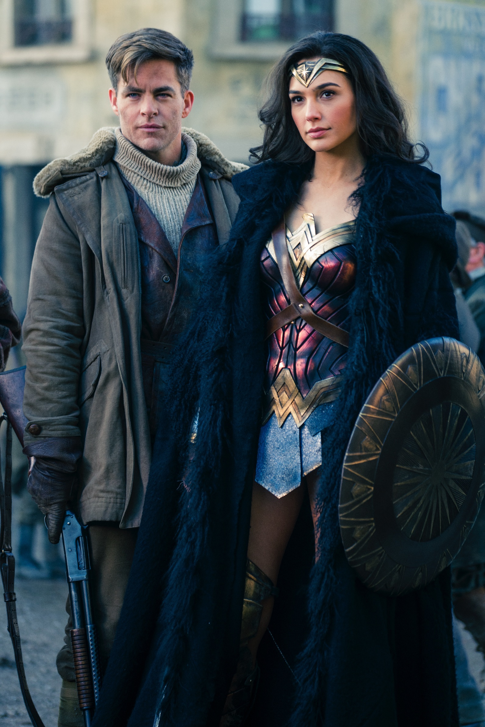 "Wonder Woman (Gal Gadot) and Steve Trevor (Chris Pine) in ""Wonder Woman"". (Warner Bros Pictures)"