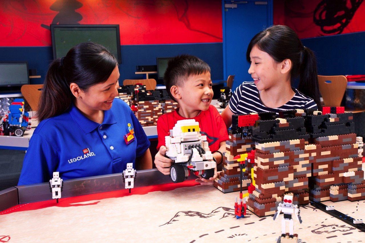 Building Lego models together. (Legoland Malaysia Resort)