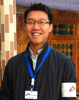 Alvin Teo, MSF volunteer. Credit: Médecins Sans Frontières Hong Kong