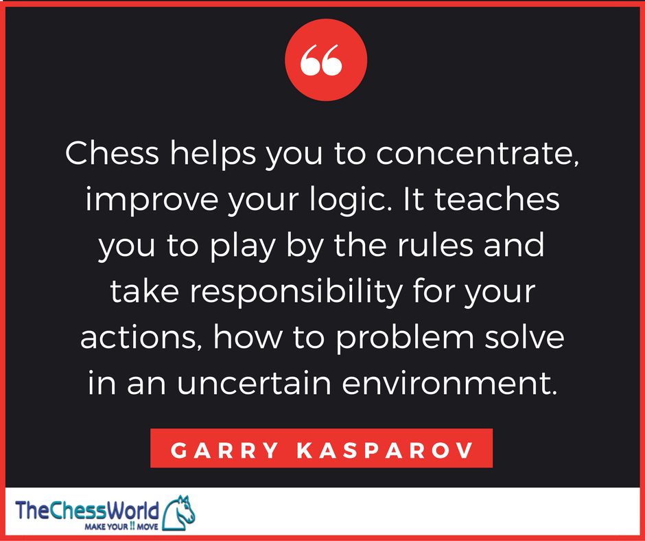 A quote by Garry Kasparov. (TheChessWorld.com)
