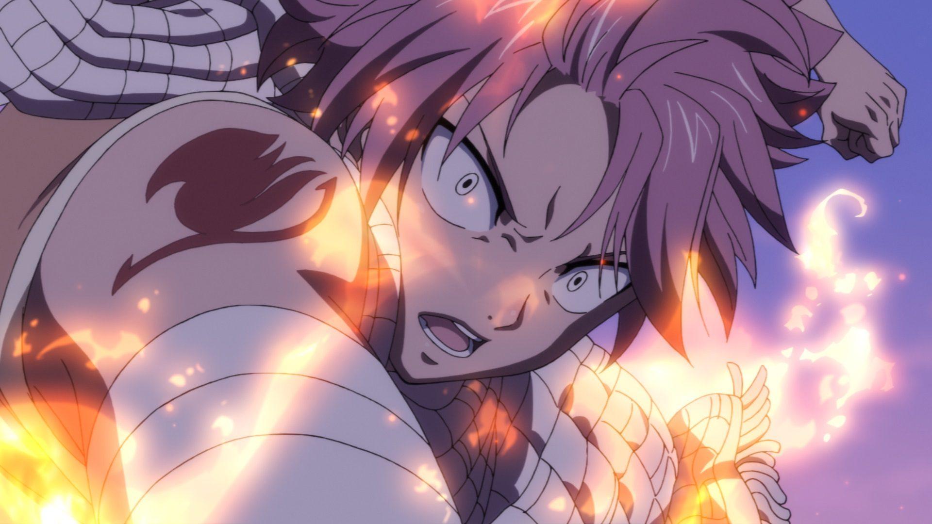 """Natsu in """"Fairy Tail: Dragon Cry"""". (Odex)"""