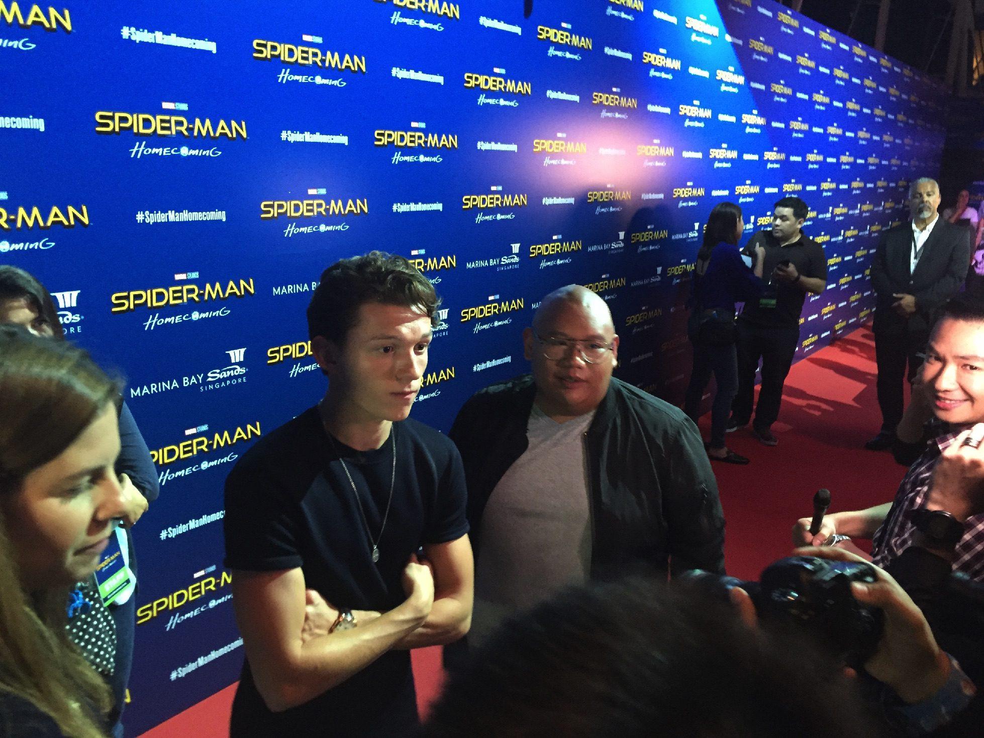 Tom Holland and Jacob Batalon.