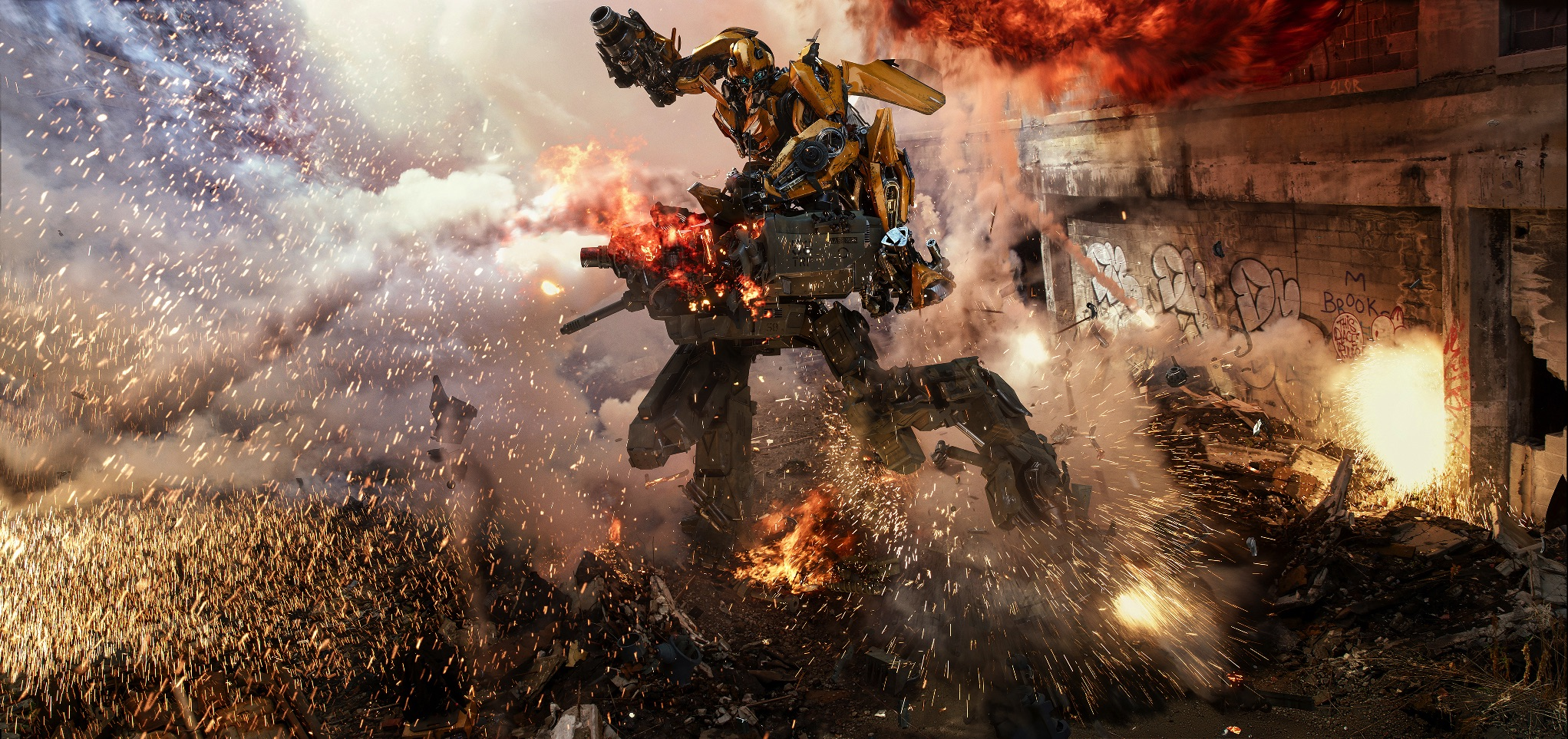 "Bumblebee in action in ""Transformers: The Last Knight""? (United International Pictures)"