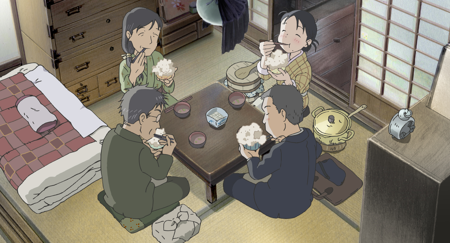 "Suzu (Non) and her family in ""In This Corner of the World"". (Encore Films)"