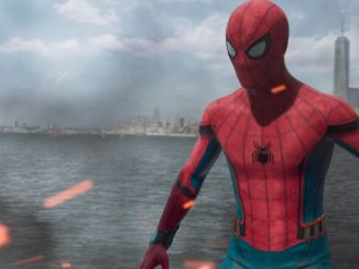 """Spider-Man (Tom Holland) in New York Harbor on the Staten Island Ferry in """"Spider-Man: Homecoming"""". (Sony Pictures Releasing)"""