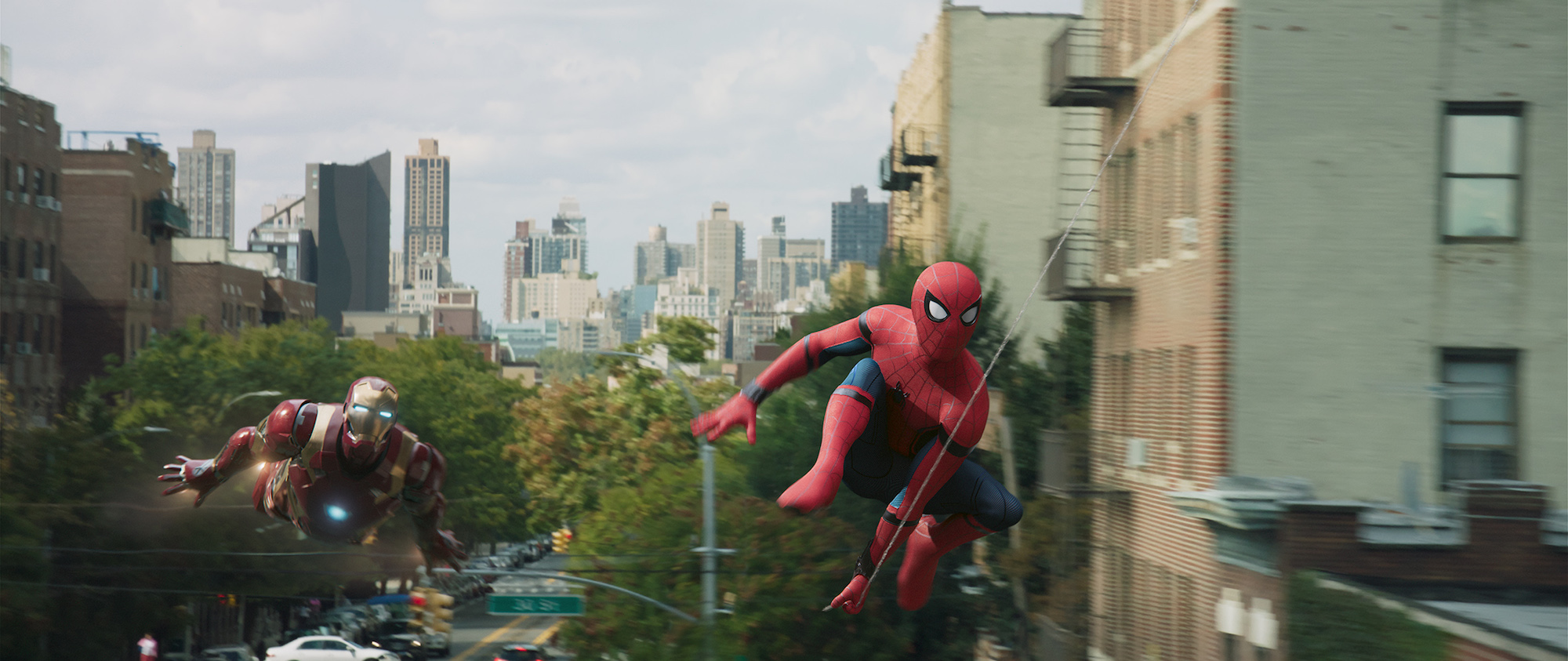 "Spider-Man (Tom Holland) and Iron Man (Robert Downey Jr) in ""Spider-Man: Homecoming"". (Sony Pictures Releasing)"