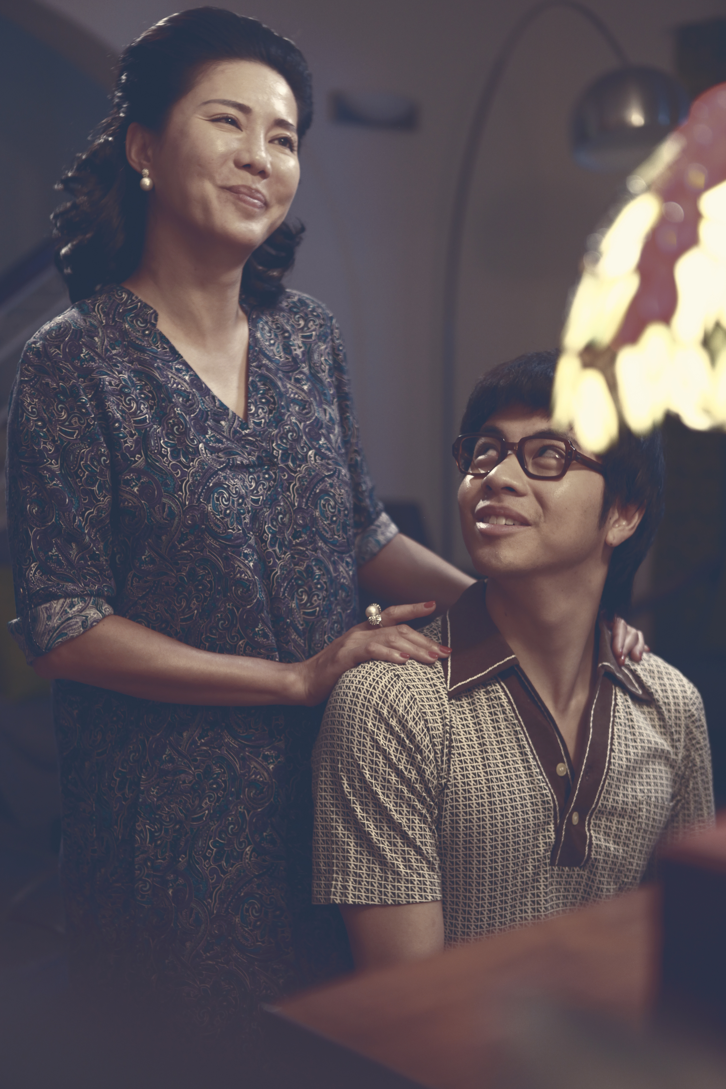 "Constance Song as Richard's mother and Benjamin Kheng as Richard in ""Wonder Boy"". (Golden Village Pictures)"