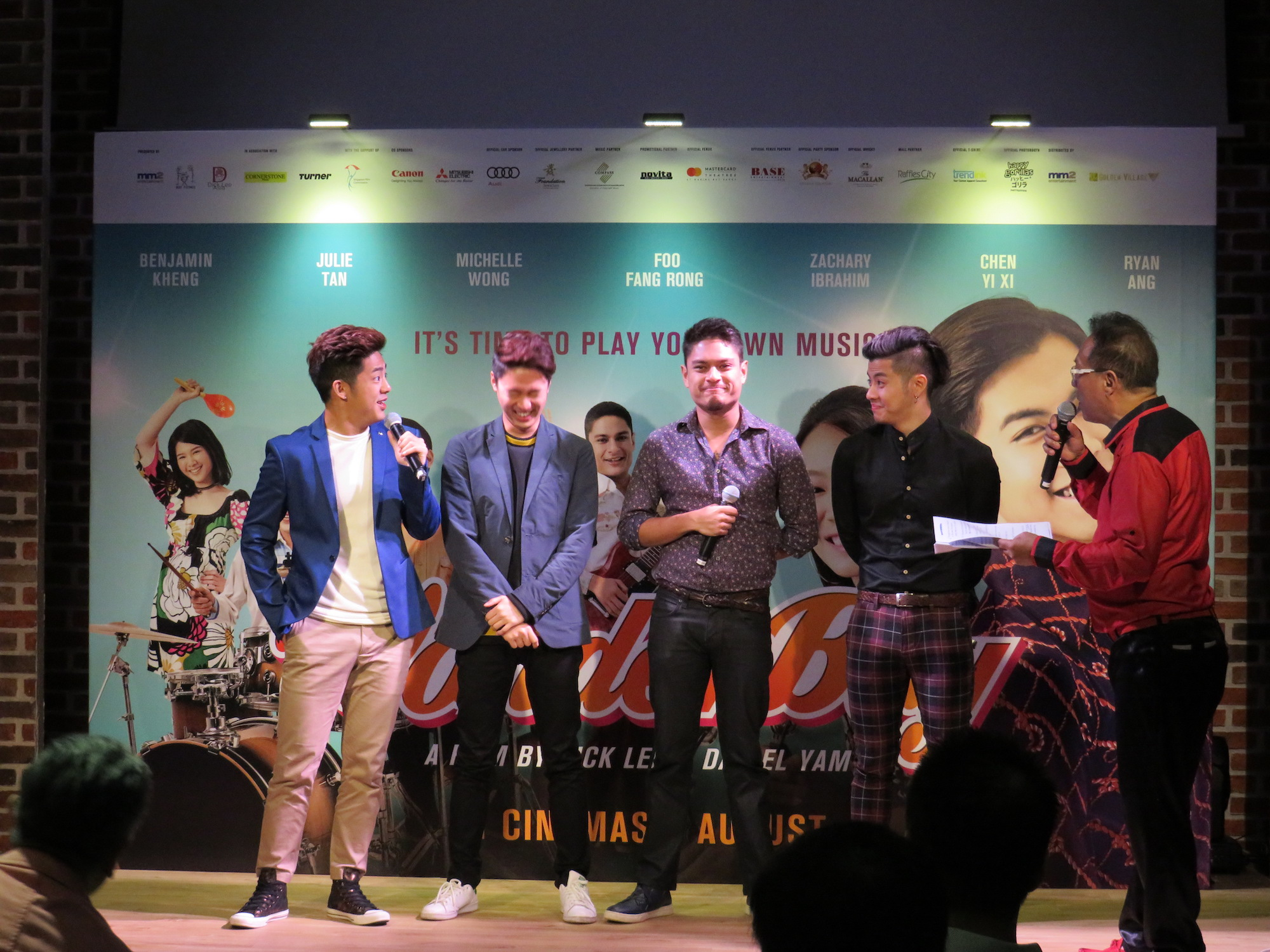 "Ryan Ang, Chen Yi Xi, Zachary Ibrahim, and Benjamin Kheng star in ""Wonder Boy""."