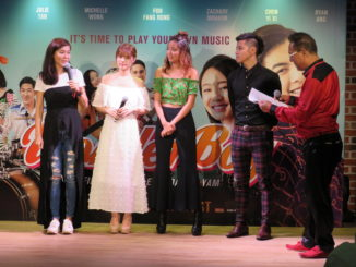 "Constance Song, Michelle Wong, and Foo Fang Rong star in ""Wonder Boy""."