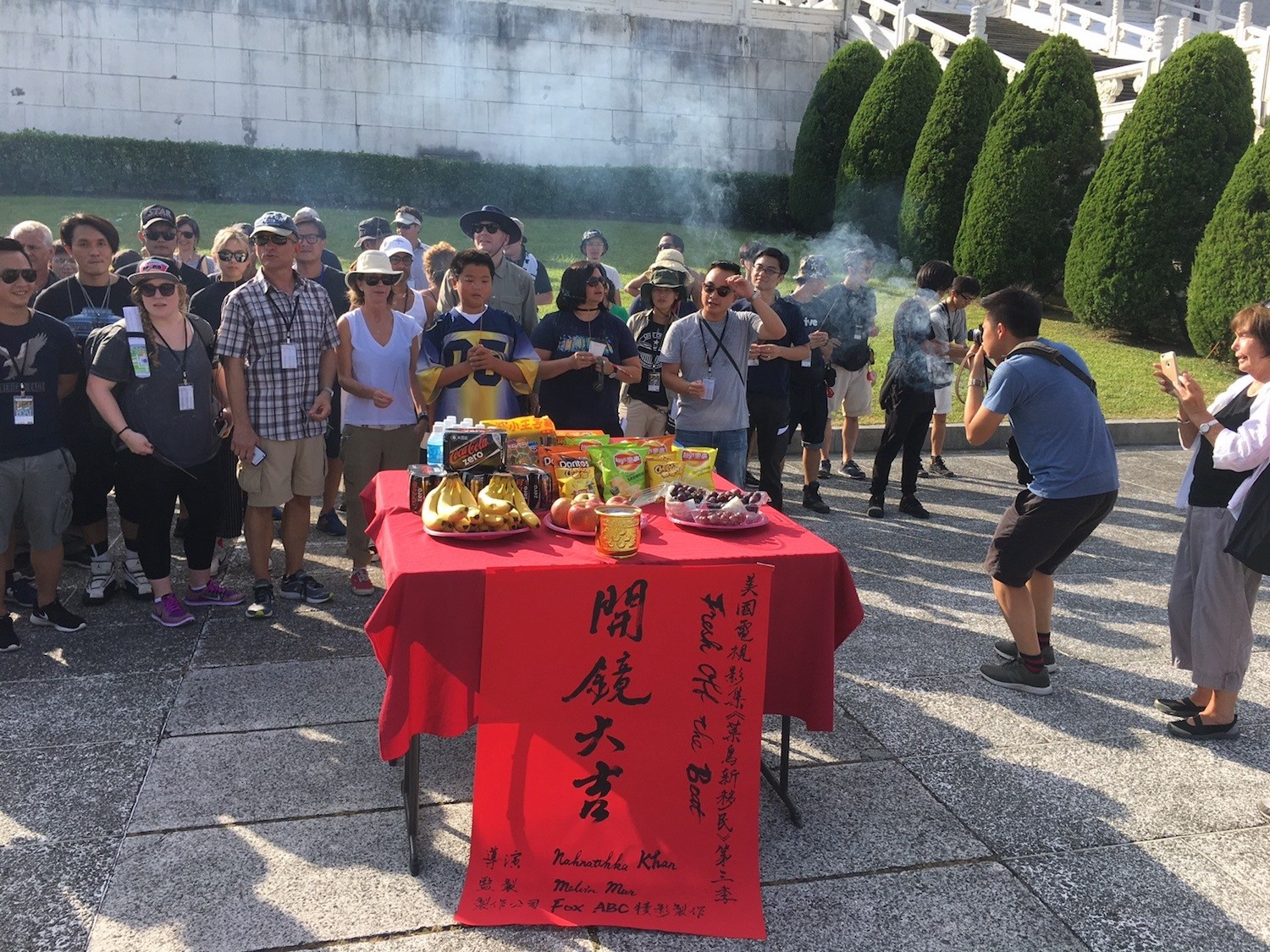 """The blessing ceremony in Taiwan for """"Fresh Off the Boat"""" (FOX+ and Melvin Mar)"""