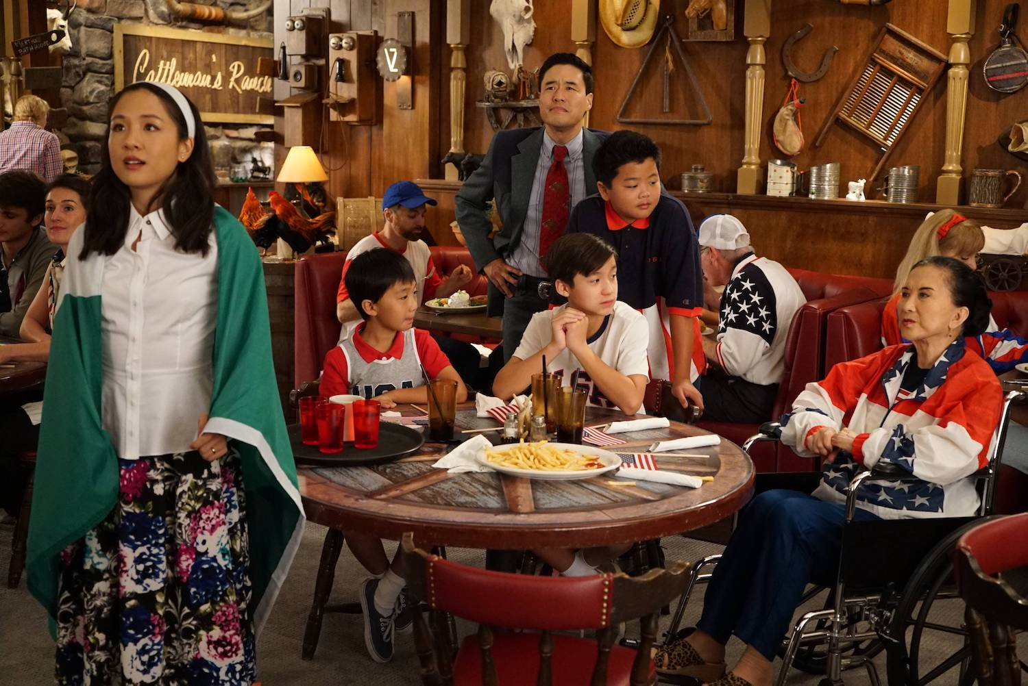 "The Huangs in ""Fresh Off the Boat"" (FOX+)"