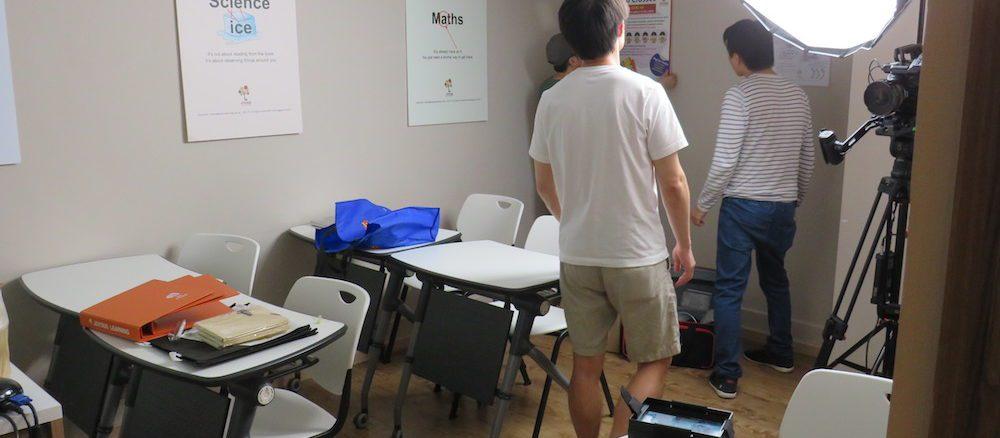 Jian Hui, Adrian, and Wilson checking out our setup.