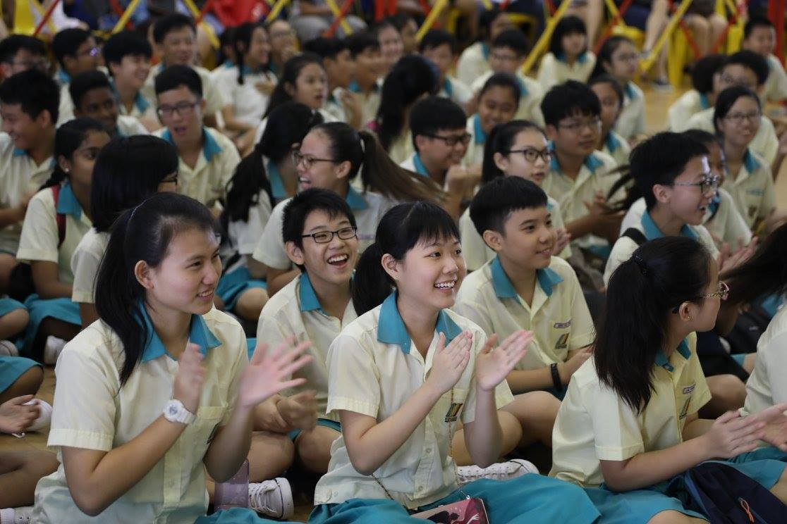Students collecting results. (Ministry of Education, Singapore Facebook Page)
