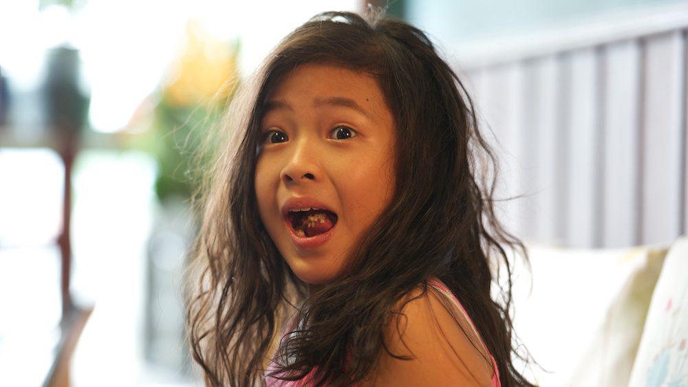 "Sarah (Sarah Tan) in ""The Kid from the Big Apple (我来自纽约)"". (Singapore Film Society)"