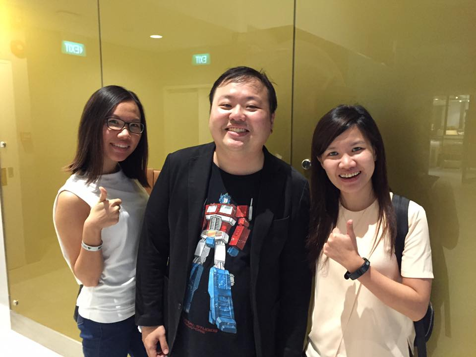 With Lee Yan (editor) and Aileen.