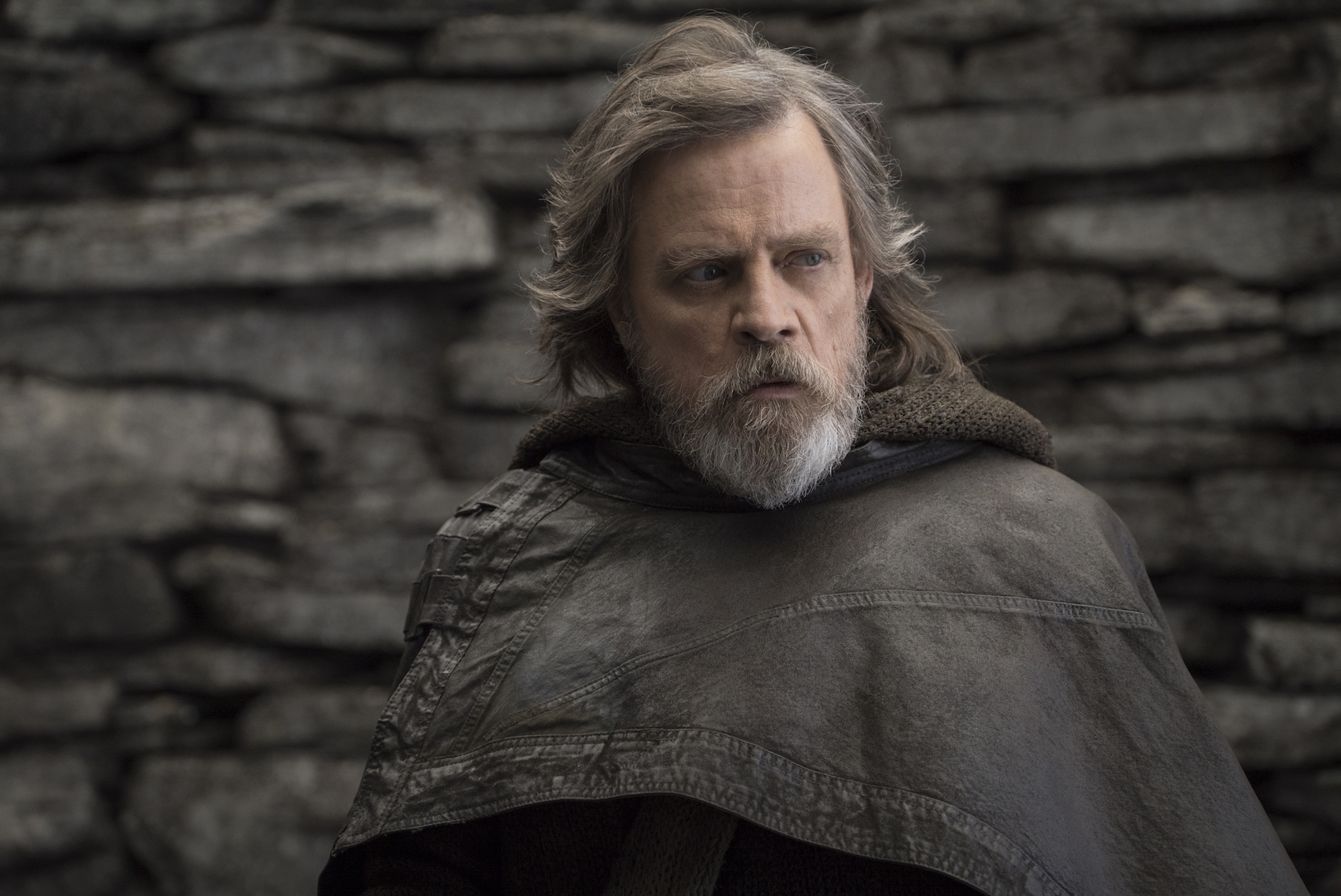 """Luke Skywalker (Mark Hamill) in """"Star Wars: The Last Jedi"""" (Walt Disney Pictures)"""