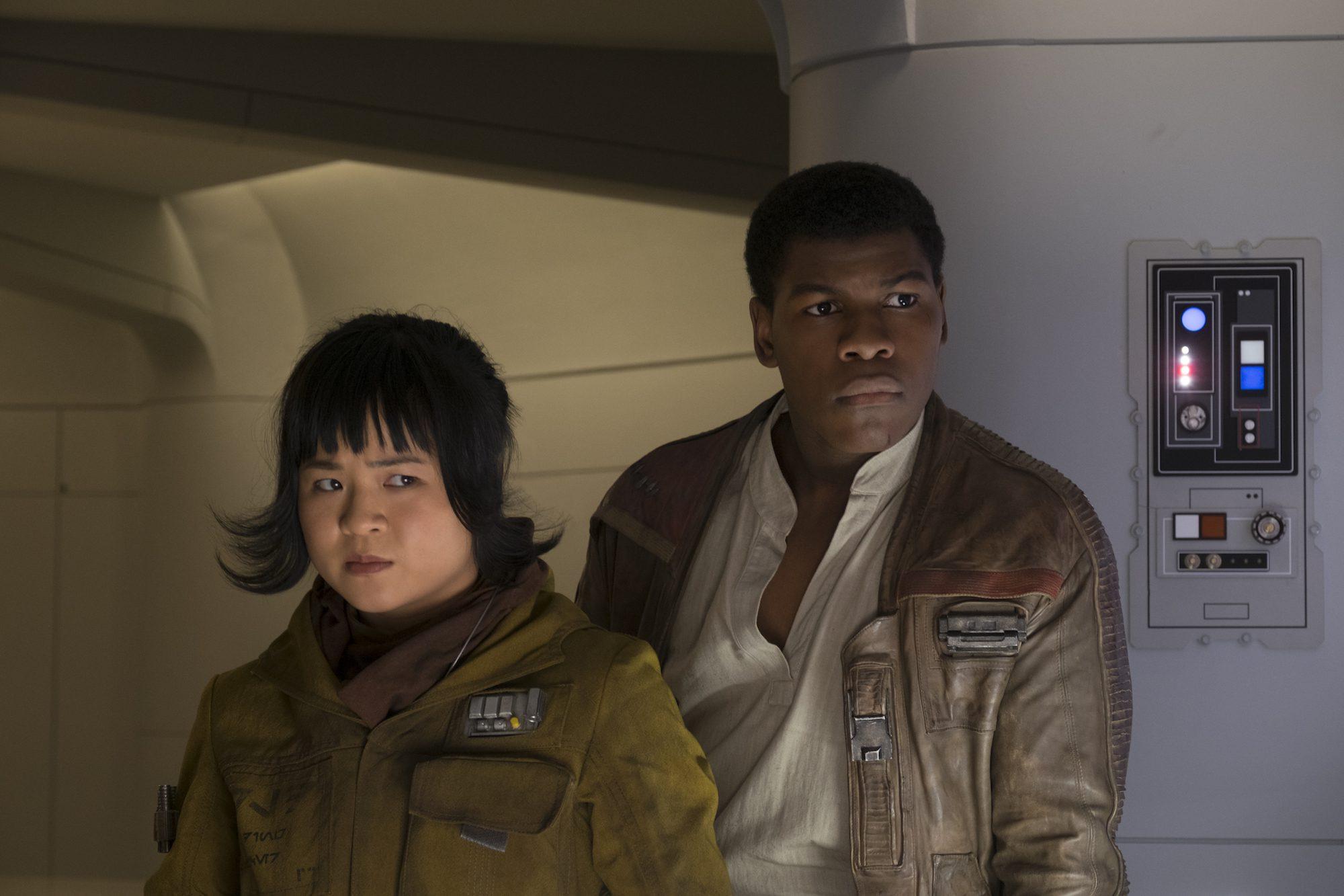 "Rose (Kelly Marie Tran) and Finn (John Boyega) in ""Star Wars: The Last Jedi"" (Walt Disney Pictures)"