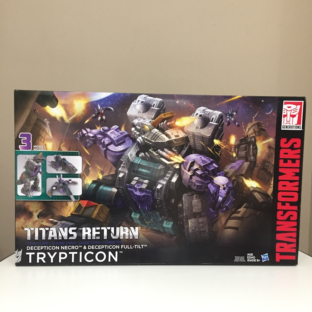 Packaging. (Trypticon from Transformers: Titans Return)