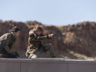 "Dylan O'Brien, left, and Thomas Brodie-Sangster in Twentieth Century Fox's ""Maze Runner: The Death Cure."""