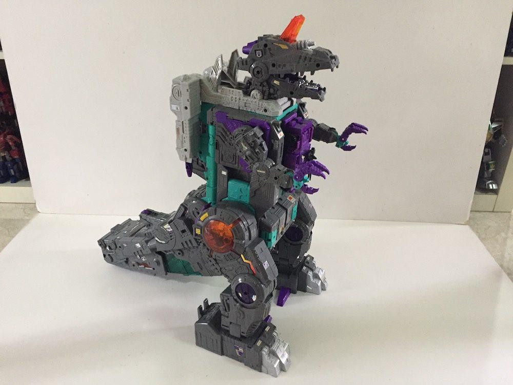 Dinosaur mode.(Transformers: Titans Return's Trypticon)