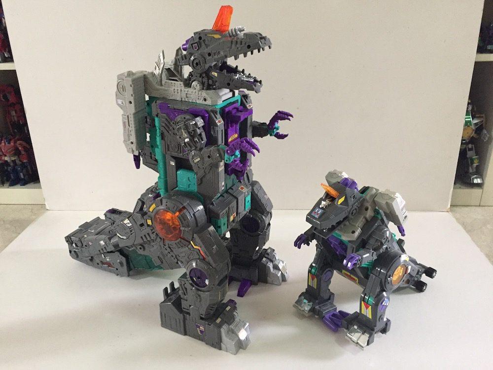 Titans Return and G1 Trypticon. (Transformers: Titans Return's Trypticon)