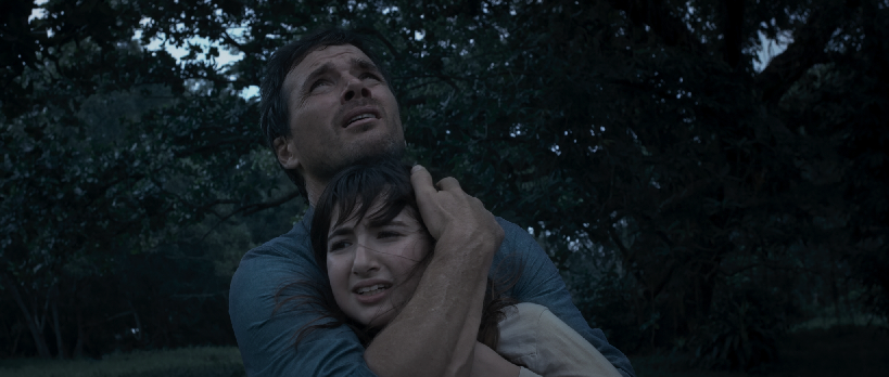 """Sam (Matthew Settle) holds Katie (Adina Herz) in """"The Faith of Anna Waters.""""  (Golden Village Pictures) - marcusgohmarcusgoh"""